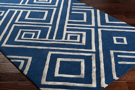 Surya Chamber Rectangular Navy, Medium Gray & Light Gray Area Rug