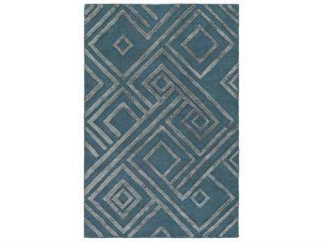Surya Chamber Rectangular Teal & Pale Blue Area Rug