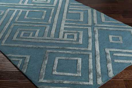 Surya Chamber Rectangular Teal & Pale Blue Area Rug