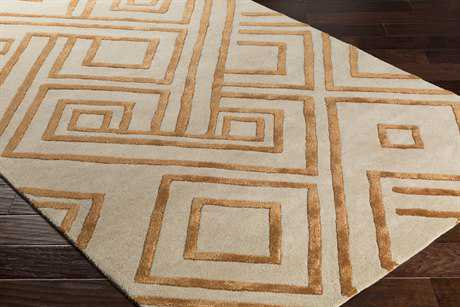 Surya Chamber Rectangular Khaki, Burnt Orange & Peach Area Rug