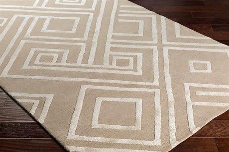 Surya Chamber Rectangular Taupe, Khaki & Cream Area Rug