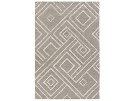 Surya Chamber Rectangular Medium Gray, Light Gray & Ivory Area Rug