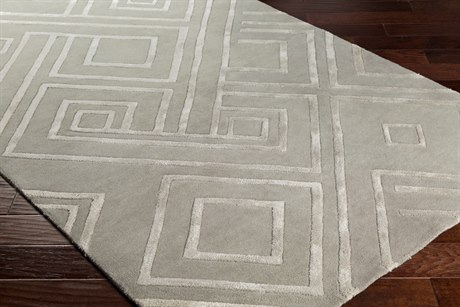 Surya Chamber Rectangular Medium Gray, Light Gray & Ivory Area Rug