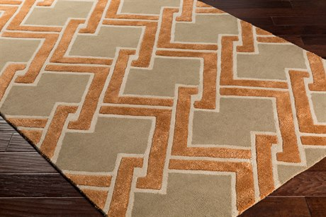 Surya Chamber Rectangular Camel, Cream & Burnt Orange Area Rug