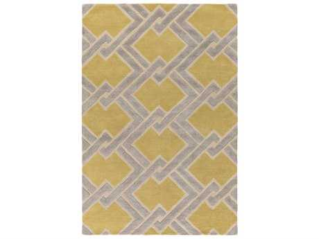 Surya Chamber Rectangular Wheat, Khaki & Light Gray Area Rug