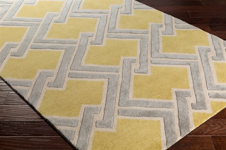 Surya Chamber Rectangular Wheat, Khaki & Light Gray Area Rug