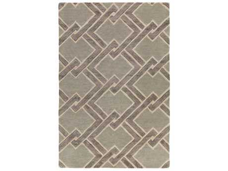 Surya Chamber Rectangular Light Gray, Cream & Medium Gray Area Rug