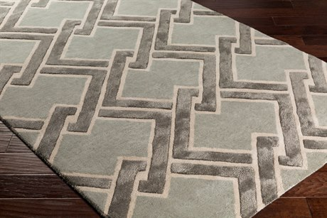 Surya Chamber Rectangular Light Gray, Cream & Medium Gray Area Rug