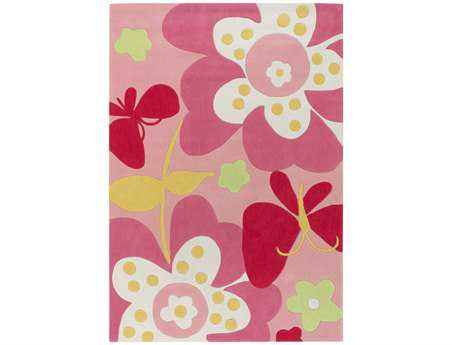 Surya Chic Rectangular Pink Area Rug