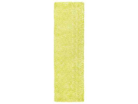 Surya Charlie Rectangular Bright Yellow & Lime Runner Rug