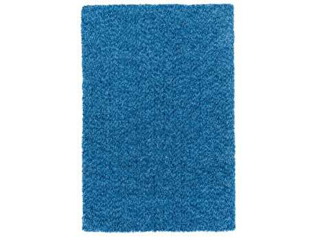 Blue shag area rugs luxedecor for Bright blue area rug
