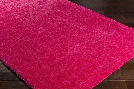 Surya Charlie Rectangular Bright Pink Area Rug