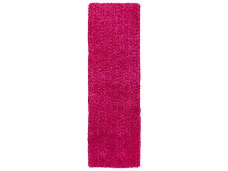 Surya Charlie 2'6'' x 8' Rectangular Bright Pink Runner Rug