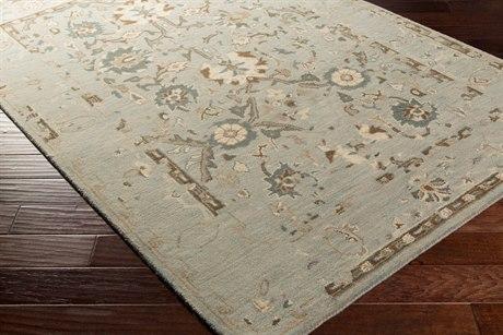 Surya Castello Rectangular Medium Gray, Khaki & Teal Area Rug
