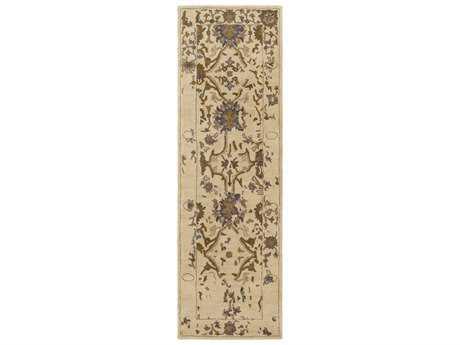 Surya Castello 2'6'' x 8' Rectangular Khaki, Dark Brown & Medium Gray Runner Rug