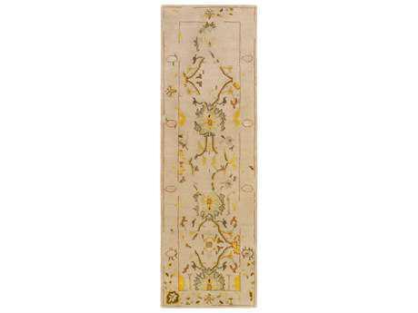 Surya Castello 2'6'' x 8' Rectangular Taupe, Olive & Dark Green Runner Rug