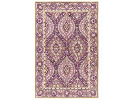 Surya Castello Rectangular Dark Purple, Bright Purple & Mauve Area Rug