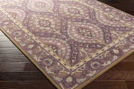 Surya Castello Rectangular Dark Purple, Bright Purple & Mauve Area Rug