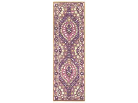 Surya Castello 2'6'' x 8' Rectangular Dark Purple, Bright Purple & Mauve Runner Rug