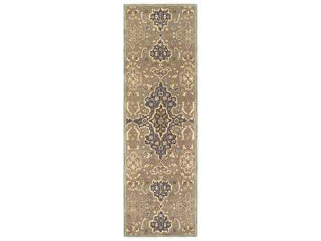 Surya Castello 2'6'' x 8' Rectangular Taupe, Camel & Khaki Runner Rug