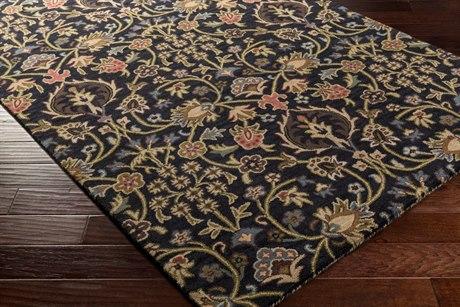 Surya Castello Rectangular Dark Brown, Rose & Garnet Area Rug