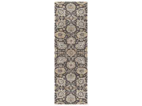 Surya Castello 2'6'' x 8' Rectangular Charcoal, Taupe & Medium Gray Runner Rug