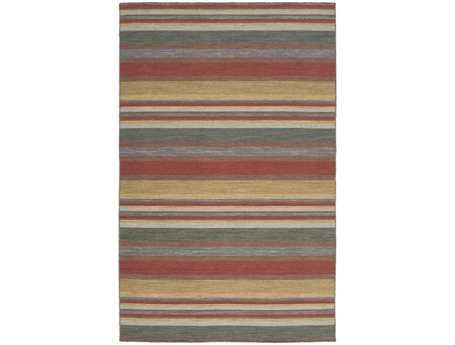 Surya Calvin Rectangular Red Area Rug