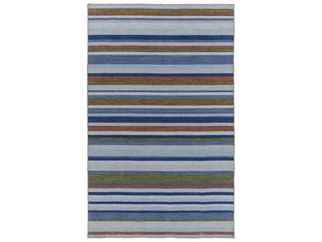 Surya Calvin Rectangular Sky Blue Area Rug