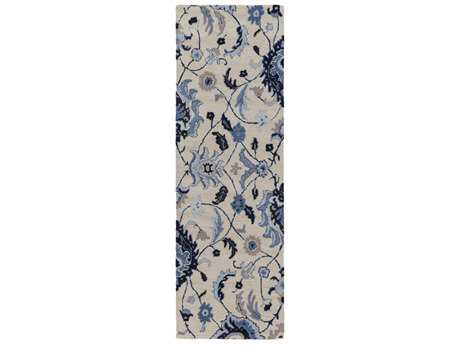 Surya Centennial 2'6'' x 8' Rectangular Black, Dark Blue & Khaki Runner Rug
