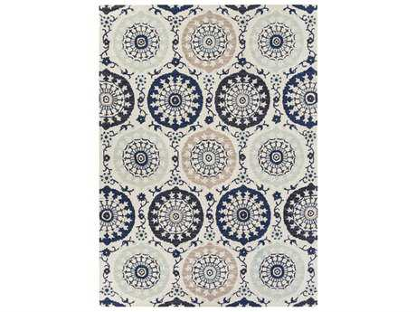 Surya Centennial Rectangular Navy, Cream & Denim Area Rug