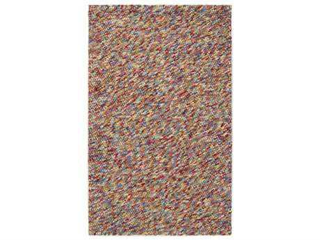 Surya Confetti Rectangular Dark Red, Bright Purple & Butter Area Rug