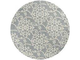 Surya Cosmopolitan 8' Round Gray Area Rug