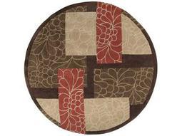 Surya Cosmopolitan 8' Round Brown Area Rug