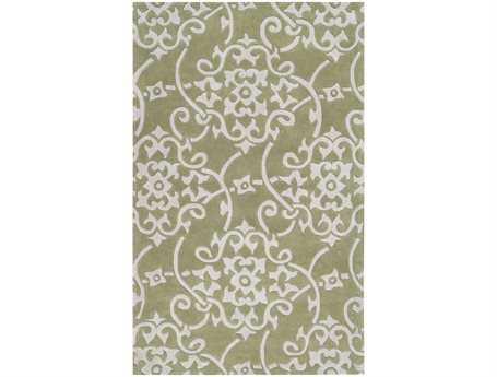 Surya Cosmopolitan Rectangular Green Area Rug