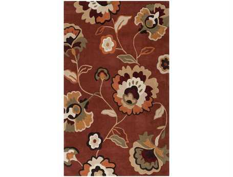 Surya Cosmopolitan Rectangular Red Area Rug