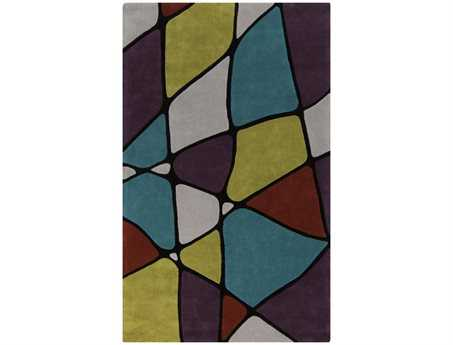 Surya Cosmopolitan Rectangular Purple Area Rug