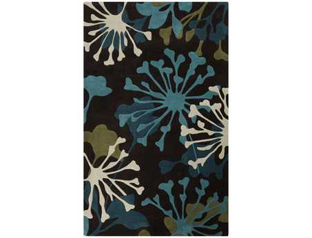 Surya Cosmopolitan Rectangular Black Area Rug