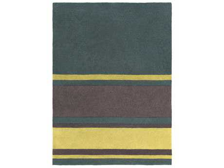 Surya Cosmopolitan Rectangular Dark Green, Grass Green & Charcoal Area Rug