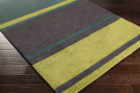Surya Cosmopolitan Rectangular Dark Green, Grass Green & Charcoal Area Rug