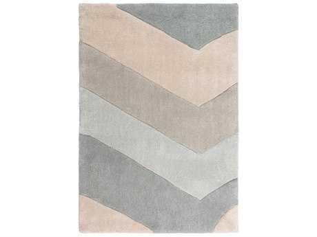Surya Cosmopolitan Rectangular Ice Blue, Medium Gray & Khaki Area Rug
