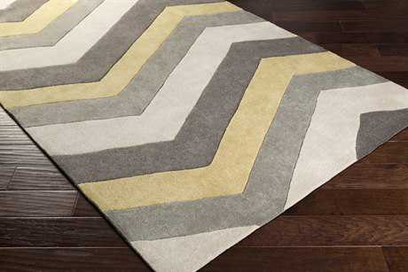 Surya Cosmopolitan Rectangular Butter, Medium Gray & Ivory Area Rug
