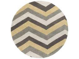 Surya Cosmopolitan 8' Round Butter, Medium Gray & Ivory Area Rug