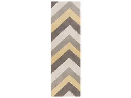 Surya Cosmopolitan Rectangular Butter, Medium Gray & Ivory Runner Rug
