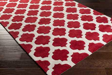 Surya Cosmopolitan Rectangular Dark Red & Ivory Area Rug