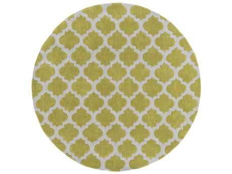Surya Cosmopolitan 8' Round Olive & Medium Gray Area Rug