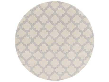 Surya Cosmopolitan 8' Round Beige & Medium Gray Area Rug