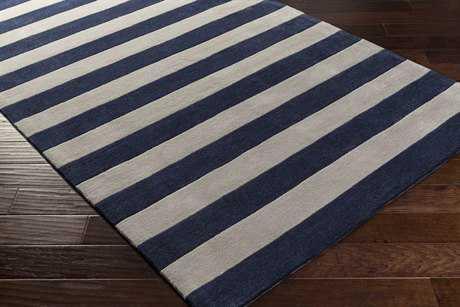 Surya Cosmopolitan Rectangular Dark Blue & Ivory Area Rug