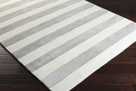 Surya Cosmopolitan Rectangular Medium Gray & White Area Rug