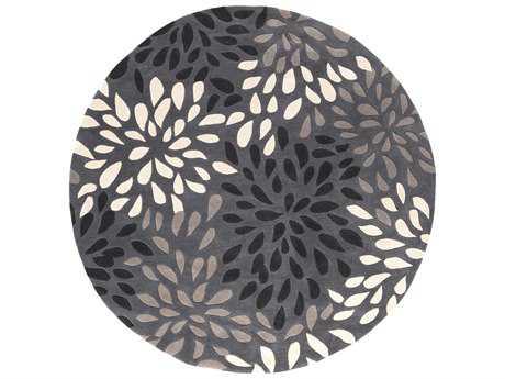 Surya Cosmopolitan 8' Round Charcoal & Taupe Area Rug