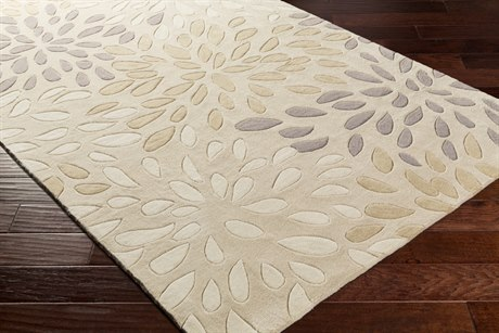 Surya Cosmopolitan Rectangular Light Gray & Ivory Area Rug
